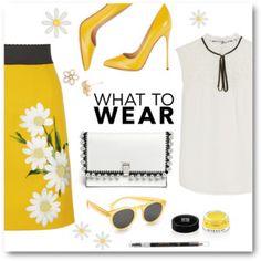 Dolce & Gabbana Daisy Embroidered Skirt
