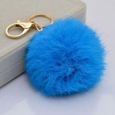 Navy Fur ball charm pom pom keychain for car key ring Bag Charm Pendant by on Etsy Fendi, Fur Keychain, Car Key Ring, Gold Plated Rings, Fur Pom Pom, Rabbit Fur, Key Rings, Key Chains, Charms