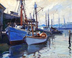 "Morning in Gloucester"" Painting by Emile Gruppe 