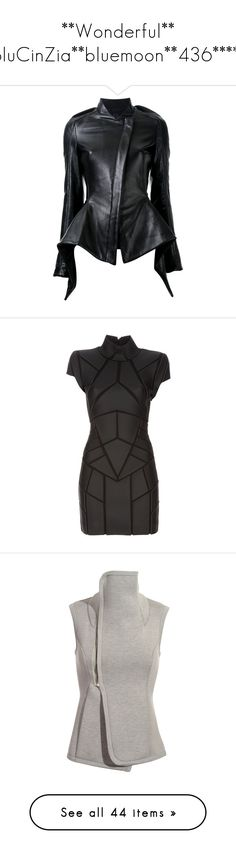 """**Wonderful** BluCinZia**bluemoon**436*****"" by bluemoon ❤ liked on Polyvore featuring outerwear, jackets, gareth pugh, blazers, black, peplum jacket, blazer jacket, fitted blazer jacket, peplum blazer and dresses"