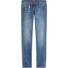 Roberto Cavalli Straight Jeans ($440) ❤ liked on Polyvore featuring jeans, blue, slim straight jeans, blue denim jeans, slim denim jeans, slim jeans and slim blue jeans