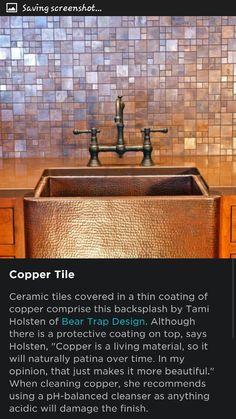 Trendiest Kitchen Backsplash Materials For The Home Pinterest - Ceramic tile protective coating