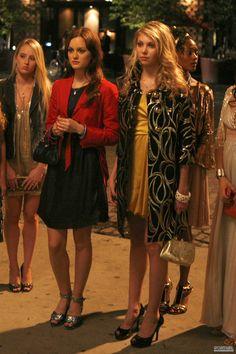 Gossip Girl Season 1. Blair Waldorf, Jenny Humphrey.