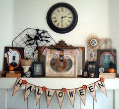 Halloween decorations :IDEAS & INSPIRATIONS   My Vintage Victorian Halloween Mantel