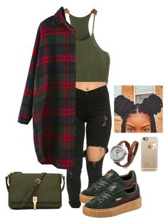 """"" by wavyjai ❤ liked on Polyvore featuring Puma, Elizabeth and James, Shinola and Casetify"