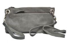 Cowboysbag Clutch/Damenhandtasche CHESTER aus Leder von Cowboysbelt, Grey/Grau Marken Cowboysbelt