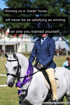 """Yes! Yes! Yes! Couldn't agree more! Can't stand those girls who get a broke horse and claim they """"trained it""""... So annoying!"""