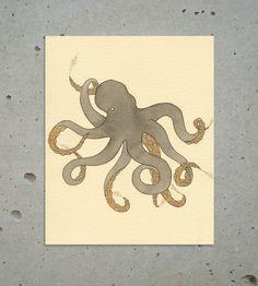 Octopus Inking Print | Art Prints | Sadly Harmless