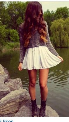 Skirt: white, girly, girly outfits tumblr, hipster, fashion, style ...