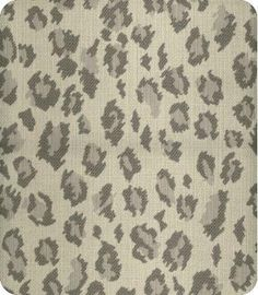 Pantha Grey Silver Animal Fabric