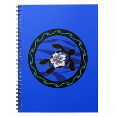 turtles & hibiscus spiral note book