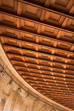 wood panel ceiling #GISSLER #interiordesign