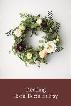 Spring/Summer Floral Faux Wreath. Shop unique home & living on Etsy.