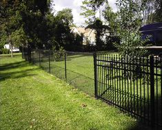 Black chain link fence                                                                                                                                                     More