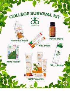 College Survival kit College Survival kit Leslie Varni ldvarni Arbonne This Arbonne college survivalkit is perfect For skincare and hydration to keep you nbsp hellip day digital detox challenge Arbonne Nutrition, Kids Nutrition, Arbonne Protein, Nutrition Quotes, Holistic Nutrition, Nutrition Education, Healthy Kids, How To Stay Healthy, Healthy Living