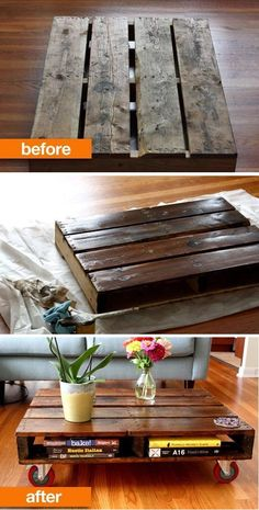 DIY Pallet Coffee Table: