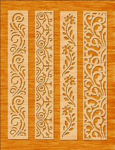 8 Border Cutting File For Laser Cnc & Plasma Cricut Floral image 5 Wood Craft Patterns, Stencil Patterns, Stencil Designs, Mural Floral, Floral Wall, Cnc Plasma, Wood Panel Walls, Panel Wall Art, Cnc Cutting Design
