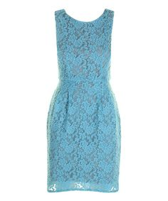 Take a look at this Sky Blue Lace Claudia Dress by Darling on #zulily today!