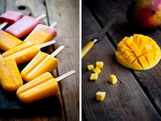 Desserts for Breakfast: Mango Lassi and Strawberry-Honey Yogurt Popsicles