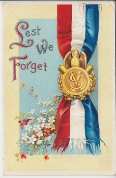 "Vintage Artist Signed Clapsaddle ""Lest We Forget"" PM 1912 