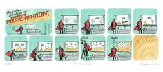 Love this. The further adventures of Captain Procrastination! The Guardian cartoon by Stephen Collins. @stephen_collins