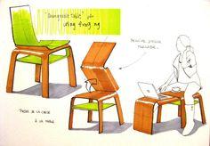Cyril Boixel : Portfolio : Recherches d'assises (planche référence)