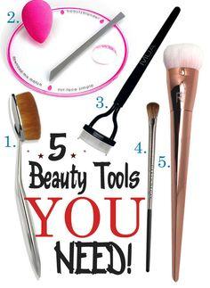 5 Beauty Tools YOU Need! @artisbrush @beautyblender @MUAcosmetics @urbandecay @realtechniques