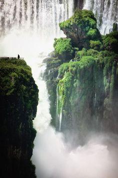 Iguazu Falls, Brazil; can you imagine the roaring sounds of the water?!
