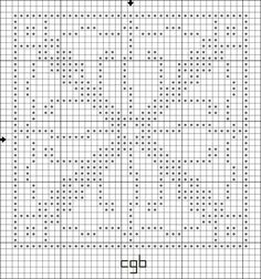 Free Geometric and Monochromatic Cross Stitch Patterns - Free Printable Charts: Free X Marks the Spot Counted Cross Stitch Pattern - Free Printable Chart