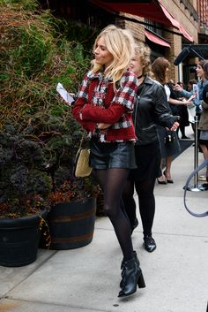 Try Sienna Miller's Outfit When You're Over Your Skinny Jeans via @WhoWhatWear