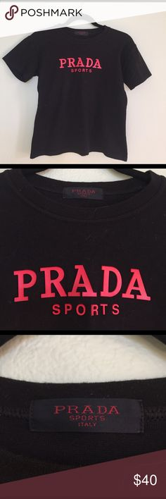 Vintage Prada tshirt Great condition, vintage, true to size but stretches a bit. Prada Tops Tees - Short Sleeve