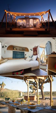 Looking to travel more in Let these beautiful and unique Airbnb rentals inspire your next trip across the globe. Airbnb California, Glamping, Airstream Interior, Airstream Living, Vintage Airstream, Airstream Trailers, Vintage Campers, Joshua Tree Airbnb, The Places Youll Go
