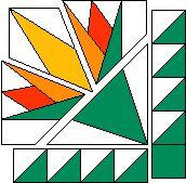 N.F.B. Quilt block pattern. Would make a beautiful Scottish thistle.