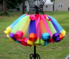rainbow ribbon tutu, I love and hate this
