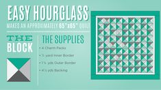 Make an Hourglass Quilt the Super Easy way with Jenny Doan of MSQC!