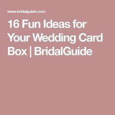 16 Fun Ideas for Your Wedding Card Box | BridalGuide