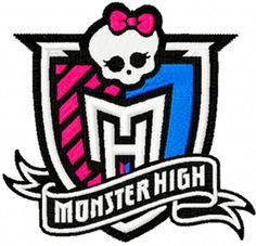 Photo of Monster High Logo Machine Embroidery Design in 4 Sizes