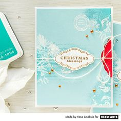 Holiday Card with a Hidden Gift Card Pocket by Yana Smakula for Hero Arts
