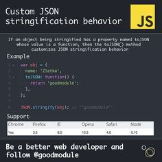 custom json stringification behavior did you know about this option