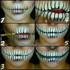 Explore easy Halloween face painting ideas for women, men, or kids. These Face paint ideas helps everyone to do something creative on this Halloween. Halloween Inspo, Halloween Makeup Looks, Halloween Skeleton Makeup, Scarecrow Makeup, Halloween Face Paint Scary, Scary Face Paint, Skeleton Face Paint, Halloween Halloween, Skull Face Paint