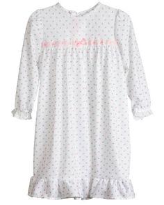 Laura Dare Girls Rosebud Jersey Long Sleeve Pajama Gown, Size 3T Laura Dare $25 on Amazon