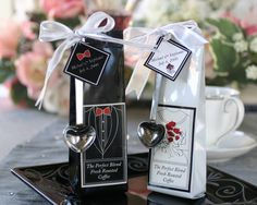 When Planning Winter Wedding Favors Consider Coffee and Tea Favors