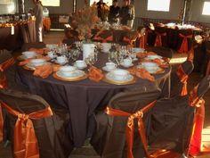 chocolate brown and orange wedding - Google Search