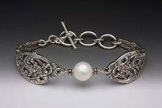 English Lace Bracelet with Pearl | Silver Spoon Jewelry - just lovely :)