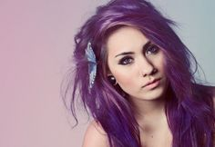 purple Hair Color  | Purple Hair (friduz: five reblogs and I will dye my hair...)