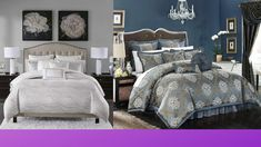Chic Home 9 Piece Aubrey Decorator Upholstery Comforter Set and Pillows Ensemble, King, Blue Visit the Chic Home Store 4.6 out of 5 stars    460 ratings List Price:$749.93 Details Price:$207.95  SizeKing ColorBlue StyleContemporary BrandChic Home PatternFloral