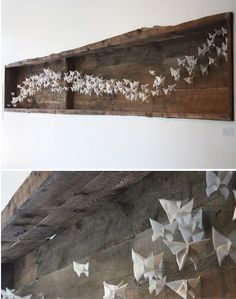 origami art installation by recovergirl, via Flickr