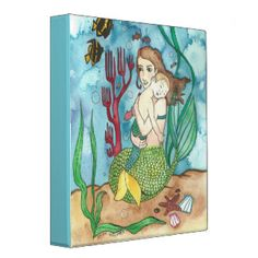 Mermother and Merchild 3 Ring Binder Happy Mother S Day, Mother Mother, Deep Art, Fantasy Mermaids, Canvas Prints, Art Prints, Butterfly Art, Mermaid Art, Fantasy Art
