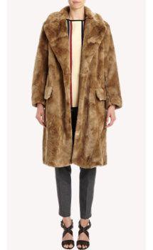 Dries Van Noten Faux Fur Varsity Coat
