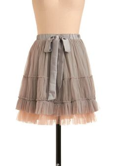 Gray and pink tulle skirt!